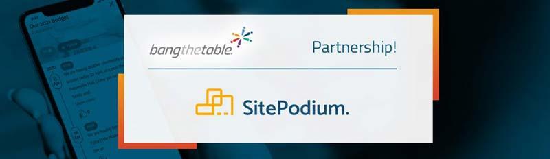 SitePodium Bang the Table Marketplace listing