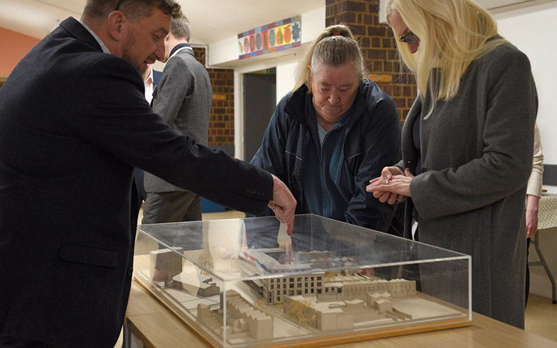 Southwark Park Road scale model
